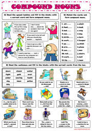 Compound Nouns ESL Grammar Exercises Worksheet