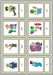 Action Verbs ESL Printable Vocabulary Learning Cards