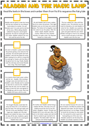 Aladdin and the Magic Lamp ESL Sequencing the Story Worksheet