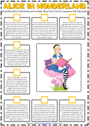 Alice in Woderland ESL Sequencing the Story Worksheet
