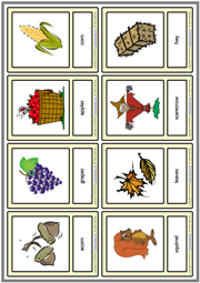 Autumn ESL Printable Vocabulary Learning Cards For Kids