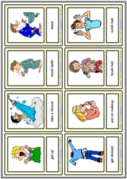 Daily Routines ESL Printable Vocabulary Learning Cards