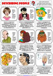 describing people physical appearance worksheet icon