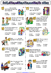 Determiners Multiple Choice ESL Exercise Worksheet