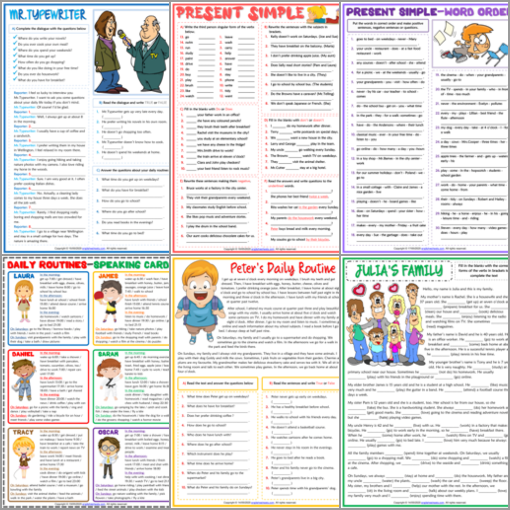 ESL Printable Grammar Worksheets and Exercises for Kids