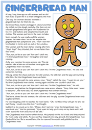 Gingerbread Man ESL Reading Text Worksheet For Kids