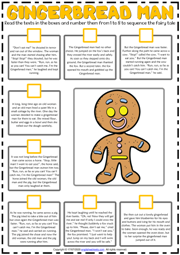Gingerbread Man ESL Sequencing the Story Worksheet