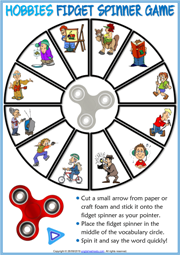 Hobbies ESL Printable Fidget Spinner Game For Kids