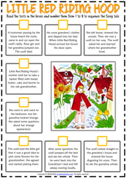 Little Red Riding Hood ESL Sequencing the Story Worksheet