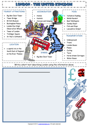 London-The United Kingdom Writing ESL  Worksheet