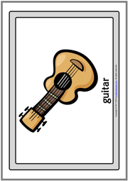 Musical Instruments ESL Printable Flashcards With Words