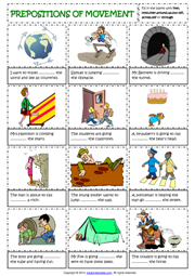 Prepositions of Movement English Grammar Worksheet