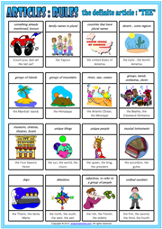 The Indefinite and Zero Article ESL Classroom Poster For Kids