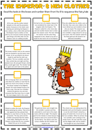 The Emperor's New Clothes ESL Sequencing the Story Worksheet